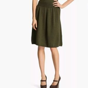 Eileen Fisher | Cypress Green A-Line Skirt